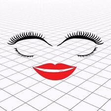 VW Eyelashes, VW Beetle EyeLashes and Lips, Volkswagen Eyelashes lips decals