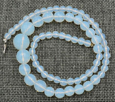 Healing Chakra Reiki 6-14mm Faceted Sri Lanka White Opal Necklace 18 ""