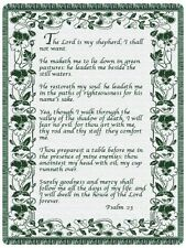 68x48  23RD PSALM Religious Green Tapestry Afghan Throw Blanket