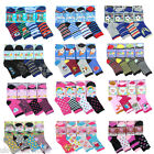 6 Pairs Girls Boys Cotton Blend Novelty Socks Childrens Kids Character Design