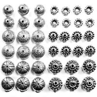 40+ Antique Silver Plated CCB Beads Spacer Mix Kit Set Jewellery Making UK