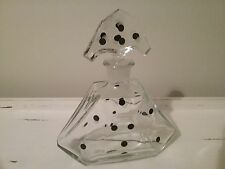 Art Deco Era Czech Glass Polka Dot Decanter