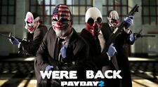 POSTER PAYDAY 2 THE HEIST PAY DAY DALLAS HOXTON CHAINS WOLF PS3 XBOX 360 GAME #8
