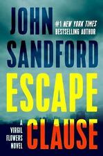ESCAPE CLAUSE 9 VIRGIL FLOWERS by John Sandford (2016, Hardcover) NEW FREE SHIP