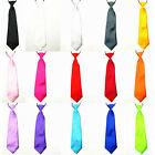 Baby Kid Children Boy Solid Color School Party Wedding Tuxedo Neck Tie Necktie