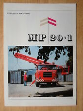 MP Hydraulic Platforms orig 1960s brochure - Liaz Trucks Czechoslovakia interest
