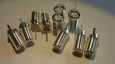RCA TYPE RF CONNECTOR / RCA # 215543 / 10 PIECES (qzty)
