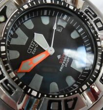 LARGE Used S/S Men's Citizen Eco-Drive 300 Meter Professional Diver's Watch Runs