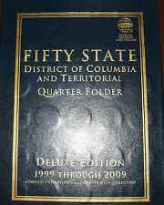 1999 to 2009 P & D States & Territories Quarters-Whitman Album-112 Coins
