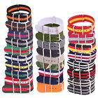 14mm 16mm 18mm 20mm 22mm 24mm Woven Watchband Nylon Watch Strap Wristwatch Band