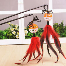 New Funny Cat Kitten Pet Teaser Feather Wire Chaser Pet Toy Wand Beads Play