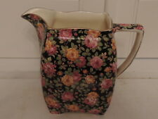 Vintage Royal Winton Chintz Beeston Large Pitcher Jug Pink Roses 1930's