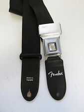 "FENDER Polyester Seatbelt Guitar Strap 2"" Hot Rod Original with Seat Belt Buckle"