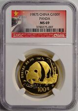 1987-S China, People's Republic Gold 100 Yuan Panda NGC MS69