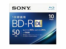 Sony BD-R DL 10pack 50GB 4x Printable Blu-ray Disc BD R Blank Disc Made in Japan