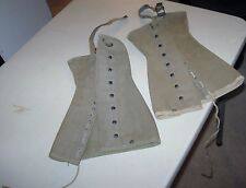 PAIR WWII WW2 US ARMY M1938 LEGGINGS CANVAS DISMOUNTED BOOT COVERS SIZE 3-A