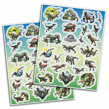 4 Jurassic World Park Dinosaurs Birthday Party Loot Favors Sticker Sheets