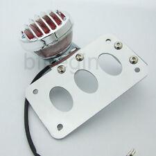 Side Mount License Plate Bracket Brake Lamp Taillight for HARLEY BOBBER CHOPPER