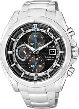 Citizen Eco-Drive Mens Super Titanium Chronograph with Sapphire Glass CA0550-52E