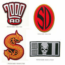 Classic 2000AD Characters - Cool Comic Logo Patch Collection!