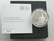 2017 Royal Mint Sapphire Jubilee UK £5 Five Pound Silver Proof Coin Box Coa