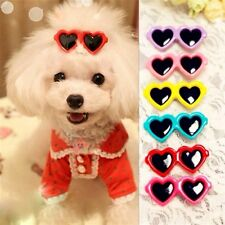 5pcs Pet Dog Hair Bow Pet Heart Sunglasses Hair Clip Doggie Boutique Groomings
