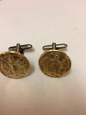 Aureus Of Ceasar Coin WC81A Pair of Cufflinks Made From English Pewter