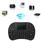 2.4G RF Mini Wireless Keyboard Mouse Touchpad Handheld Android TV BOX HTPC Black