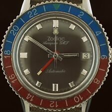 "Stunning Vintage Mens 1960's Zodiac Pilots ""Aerospace"" GMT Automatic Watch"