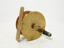 "Vintage Antique Brass Allcock 2 ¼"" Crankarm Trade Fly Fishing Reel"