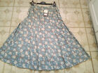 Adini 100% Cotton voile 14 panel fully lined printed skirt side zip fastening