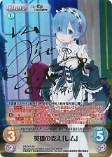 Chaos TCG Re:Zero RZ-007 SP FOIL SIGNED Support of Hero, Rem