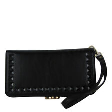 BLACK STUDDED LOOK FASHION WALLET CLASP WALLET BRAND NEW
