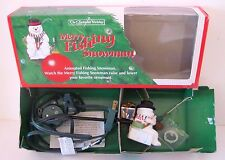 Merry Fishing Snowman Christmas Ornament, The Enchanted Workshop, Animated, 1992