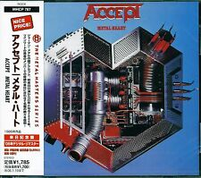 ACCEPT METAL HEART JAPAN REMASTERED CD - BRAND NEW FACTORY SEALED GIFT QUALITY!