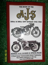 BOOK OF THE AJS OHV TOURING SINGLE 16 16M 16MS 18 18S POCKET REPAIR MANUAL 45-60