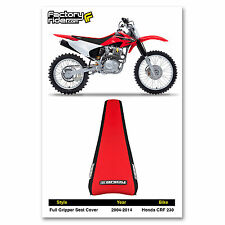 1995-1996 HONDA CRF 230 Black/Red FULL GRIPPER SEAT COVER BY Enjoy MFG