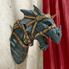 Medieval Beast Warrior Armor Gothic Horned Dragon Head Trophy Wall Sculpture