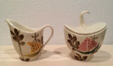 Red Wing Tampico Cream And Covered Sugar Bowl W/lid
