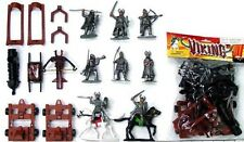 Medieval Plastic Vikings And Medieval Artillery Figures Set 31 New In Bag!
