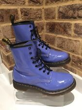 Men's Dr Martens Ankle Boots Purple Patent Uk Size 8 EU42
