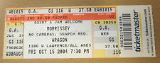 2004 MORRISSEY ARAGON CHICAGO CONCERT TICKET STUB HOW SOON IS NOW THE SMITHS