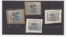 1937 Spanish Civll War Airmail Overprints C72A & C72B on Piece Spain Helicopter