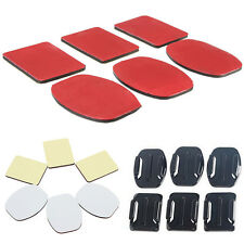 6x  Red Sticker Adhesive Pad for Gopro HD Hero 4 3+ 3 2 1 Helmet Mount Sticky