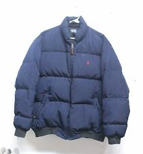 Men's Polo Ralph Lauren Insulated Down Puffy Jacket Coat Navy Blue Red Pony Sz L