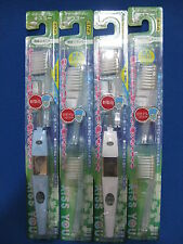 KISS YOU  regular size medium 2 ionic toothbrush + 4 replacement blue and white