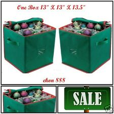 Christmas Box Bag Ornaments Holds 64 Balls Holiday Storage Protect Against Dust