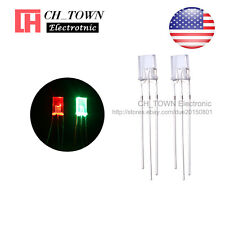 100 2x5x7mm Common Anode Water Clear Bi-Color Red Green Rectangular Led Diodes
