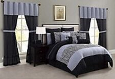 Amari Comforter Bedding Super Set KING 30 Piece Reversible Pillow Sheet QW278