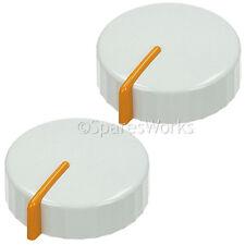 2 X Genuino MIELE Lavadora Blanco Temporizador Perilla Dial interruptor Repuesto Parte